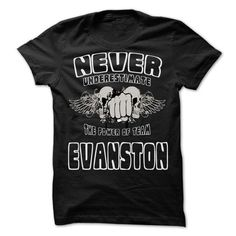 NEVER UNDERESTIMATE THE POWER OF Evanston - Awesome Tea - #t shirt designs #linen shirts. THE BEST => https://www.sunfrog.com/LifeStyle/NEVER-UNDERESTIMATE-THE-POWER-OF-Evanston--Awesome-Team-Shirt-.html?id=60505