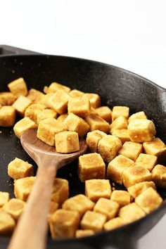 Learn how to make crispy tofu with this step-by-step guide for the perfectly crispy tofu to serve over salads or with your favorite vegetables and rice. Made in just 10 minutes for a quick and easy addition to any meal.