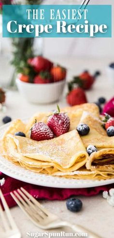 A classic Crepes recipe, so easy and a perfect breakfast staple! #breakfast #crepes #recipe