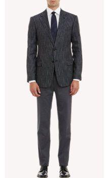 Armani Collezioni Tweed Two-Button Sportcoat