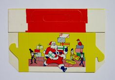 Vintage Christmas Candy Box with Santa Claus and by antiquelove22