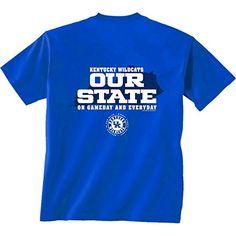 NCAA Kentucky Wildcats Our State Short Sleeve T-Shirt, Large, Royal Blue #KentuckyBasketball #bbn #kentuckybball #UofK #uk #marchmadness #ncaatourney #universityofKentucky