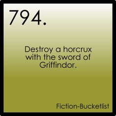 Fictional bucket list#794: Harry Potter