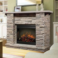 Dimplex Featherston Electric Fireplace And Stone Mantel Dimplex Electric Fireplace, Electric Fireplace Reviews, Recessed Electric Fireplace, Wall Mount Electric Fireplace, Dimplex Fireplace, Stone Fireplace Mantel, Home Fireplace, Fireplace Inserts, Fireplace Design