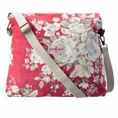 Hampstead Rose Velvet Folded Messenger Bag