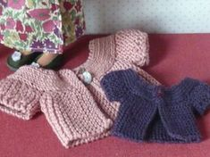 Free Knitting pattern - doll cardigan