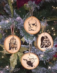 Wood burned Star Wars Christmas Ornaments by CirclePTradingCo on Etsy www.etsy.com/...
