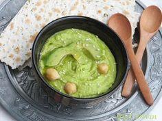 Hummus cu avocado Hummus, Avocado Recipes, Falafel, Guacamole, Vegetarian, Cooking, Ethnic Recipes, Food, Kitchen