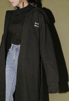 Lettering Print Hooded Robe Coat | STYLENANDA