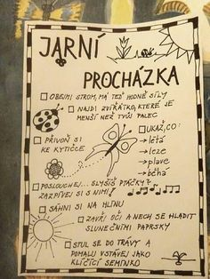 Jarní procházka Outdoor Activities For Kids, Spring Activities, Preschool Activities, Primary School Jobs, Diy For Kids, Crafts For Kids, School Psychology, Working With Children, School Humor