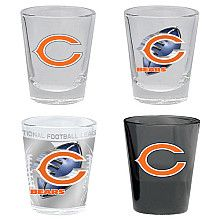 Hunter Chicago Bears 2oz Collectors Glass - 4 Pack - NFLShop.com