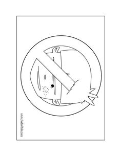 There Are Many Free No Boys Door Sign Coloring Page In DOOR HANGER Pages
