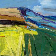 Peter Iden Artist: South Downs Summer 2 Oil on Board Estate of Peter Iden Landscape Artwork, Abstract Landscape Painting, Seascape Paintings, Abstract Art, Mountain Paintings, Fine Art, Inspiration, Painting Classes, 2 Peter