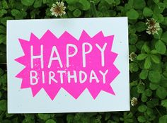 Neon Pink Happy Birthday card   Flickr - Photo Sharing!
