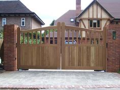 Hardwood Electric Gate 6