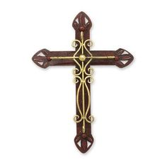 NOVICA Handcrafted Mexican Christianity Steel Cross Wall Art ($58) ❤ liked on Polyvore featuring home, home decor, wall art, art, crosses, filler, metallic, wall decor, handmade wall art and cross home decor