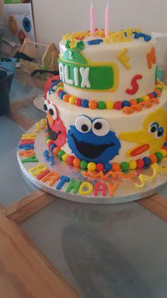 Sesame street cake- Alix turns 2!