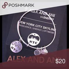 NYC (New York City) alex and ANI silver Like new -  comes with original card and box Alex & Ani Jewelry Bracelets