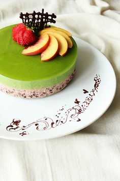 Matcha and Red Bean Mousse - hard recipe, but looks darn good