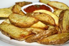 Dill Pickle Potato Wedges -Actifry