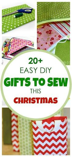 20+ easy sewing tutorials with free PDF patterns! Simple. Clear. Easy to follow. Perfect beginner sewing tutorials with free patterns for making great Christmas gifts for friends and the entire family. Check them out!