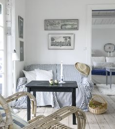 Interior design is a concern for anyone that wants his or her home to have a. Coastal Cottage, Coastal Living, Coastal Decor, Coastal Homes, Cozy Cottage, Hygge, Les Hamptons, Nantucket, Cottages By The Sea