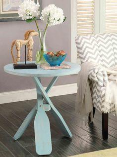 Charming Blue Oar Side Table currently on sale (3/17)... http://www.completely-coastal.com/p/coastal-sale-island.html