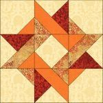 Entwined star quilt block image © Wendy Russell - Diy and craft Barn Quilt Designs, Barn Quilt Patterns, Pattern Blocks, Motifs Applique Laine, Quilt Blocks Easy, Block Quilt, Star Blocks, Sunflower Quilts, Painted Barn Quilts