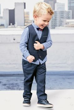 Buy Navy Waistcoat, Shirt And Bow Tie Set (3mths-6yrs) online today at Next: South Africa