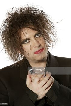 Robert Smith of The Cure poses for a studio portrait during the MTV Europe Music Awards 2004 at Tor di Valle November 18, 2004 in Rome, Italy.
