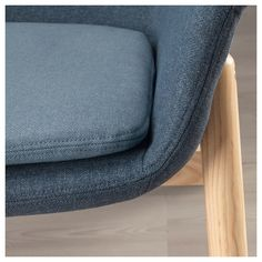 VEDBO Gunnared blue, High-back armchair. The timeless design of VEDBO makes it easy to place in various room settings and match with other furniture. Ikea Armchair, High Back Armchair, Hygge Home, Fabric Armchairs, Minimalist Architecture, Polyurethane Foam, Cushion Covers, Timeless Design, Seat Cushions