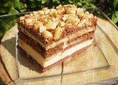 ciasto Snickers bez pieczenia z mlekiem w proszku