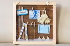 Wer einen Skiurlaub oder eine Winterreise verschenken möchte, liegt mit diesem Geschenkrahmen genau richtig. Passend zum Hüttenflair,