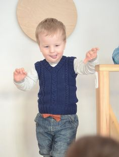 Navy Blue Boys Vest, Kids Vest, Hand Knit Vest, Knitted Toddler Vest, Tank Top For Boy, Merino Wool Vest, From Birth To 7 Years