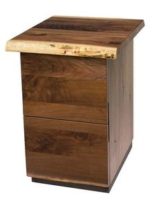 Amish Soho Two Drawer File Cabinet Sleek and smooth and full of natural character. Features a unique live edge in your choice of wood. Amish made in Ohio. Live Edge Furniture, Rustic Furniture, Wood File, Rattan Coffee Table, Drawer Filing Cabinet, Large Lanterns, Live Edge Wood, Office Organization, Wood Cabinets