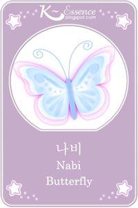 ☆ Butterfly Flashcard ☆    Hangul ~ 나비 ☆  Romanized Korean ~ nabi ☆    #vocabulary #illustration