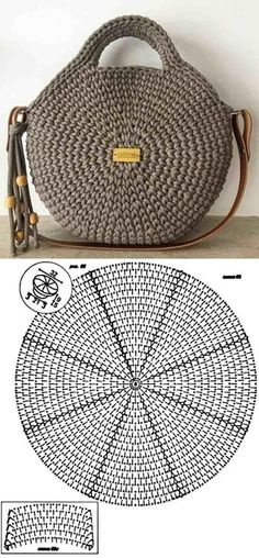 Make and profit: 26 models of crochet bag with graphic - 26 Beautiful Crochet B. - Make and profit: 26 models of crochet bag with graphic – 26 Beautiful Crochet B… Make and profit: 26 models of crochet bag with graphic – 26 Beautiful Crochet B…, Crochet Round, Crochet Motif, Crochet Baby, Knit Crochet, Beau Crochet, Crochet Designs, Afghan Patterns, Tunisian Crochet, Bag Tutorials