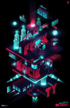 """Personal work, fan art from """"Mr. Robot"""" #mrrobot #fanart #design"""