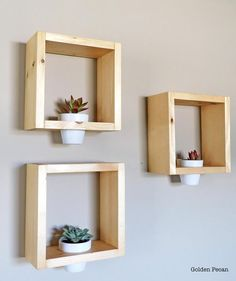 ➽ Smart Choices Wood Wall Shelf Style And Convenience 17 Honeycomb Shelves, Geometric Shelves, Hexagon Shelves, Wooden Wall Shelves, Wooden Walls, Floating Shelves, Wooden Planters, Wall Planters, Diy Wall Planter