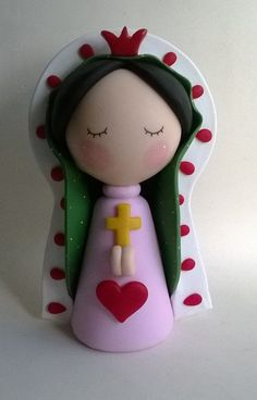 De : Adriana Biggi: Polymer Clay People, Fimo Clay, Polymer Clay Projects, Diy And Crafts, Arts And Crafts, Cake Templates, Fondant Figures, Pasta Flexible, Paper Clay