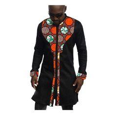 African mens shirts custom men african clothes fashion dashiki shirt mens long sleeve tops of africa clothing Item Type: Africa Clothing, Men'Shirts Gender: Men Type: Dashiki, Kitenge Material: Cotton