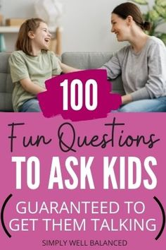 100 fun questions to ask your kids that will get them talking. These unique questions to ask your children will get them laughing, sharing and talking. Perfect for families to ask around the dinner table or to use as an ice breaker. #family #familyfun #familytime Gentle Parenting, Parenting Advice, Kids And Parenting, Sibling Relationships, Communication Relationship, Fun Questions To Ask, This Or That Questions, Teaching Manners, 100 Fun