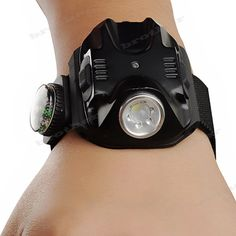 Tactical Rechargeable Wrist Watch LED Q5 Flashlight Torch Compass Light 400LM