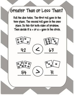 Greater Than or Less Than Center Activity