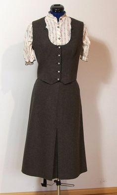 Vintage Trachten Kostüm, braun Loden, Gr. 44 von Gwandkammerl der Vampertingerin auf DaWanda.com