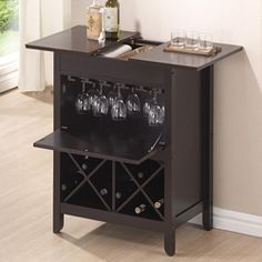 Shop for Baxton Studio Agaue Modern and Contemporary Dark Brown Wood Dry Bar and Wine Cabinet. Get free shipping at Overstock.com - Your Online Kitchen