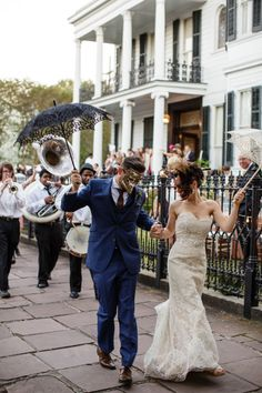 Photography: Koby And Terilyn Brown - ArchetypeStudioInc.com  Read More: http://www.stylemepretty.com/2014/08/13/mardis-gras-inspired-new-orleans-wedding/