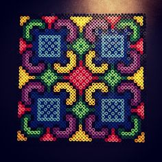 Hama perler bead design by aslaugsvava Perler Bead Designs, Perler Bead Templates, Hama Beads Design, Pearler Bead Patterns, Perler Patterns, Perler Beads, Perler Bead Art, Fuse Beads, Beaded Cross Stitch