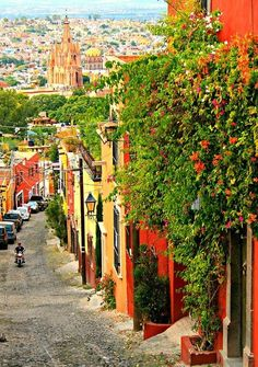 Guanajuato... I am pretty sure this is a street I walked down. And the colors ARE just as vivid! :)