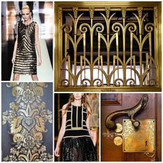 Winter 2014 Fashion Trend Alert! Clean geometric patterns and luxurious two color combinations are going to be huge this winter season. Gunmetal, black, gold and silver will be key colors. www.withinstudioblog.com